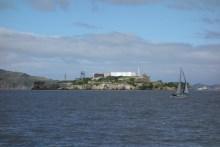 Alcatraz in the bay