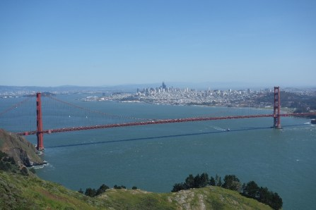 View of the city from the Marin Headlands