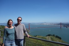 Mark, Liesbet and the Golden Gate Bridge