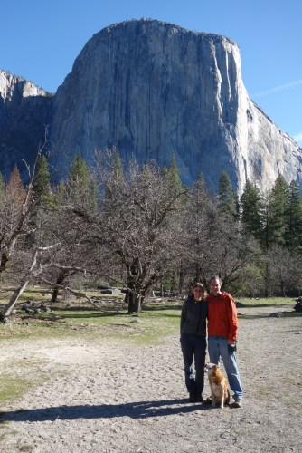 In front of El Capitan in Yosemite Valley