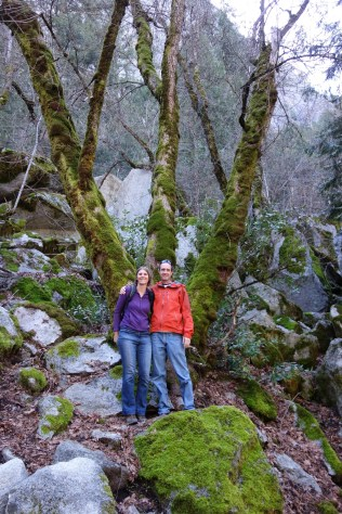 Hike to Mirror Lake - colorful contrast with the green moss