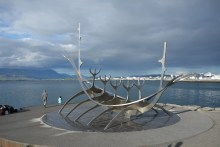 Art work Solfar Sun Voyager along the waterfront