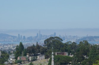 Hazy San Francisco in the distance