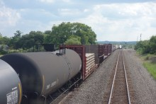 Freight train bringing us an extra engine