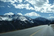 Driving back home through the Rockies