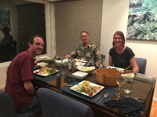 Thanksgiving dinner with Paul and Janis - Photo Courtesy Janis Heppell