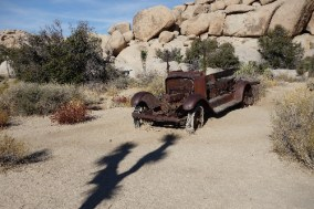 One of the hikes in the desert revealed old and abandoned automobiles