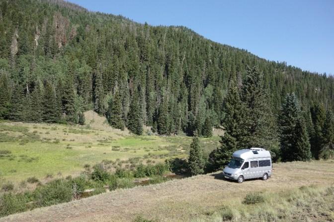 Our favorite (free) campsite so far: Rio Grande National Forest, CO