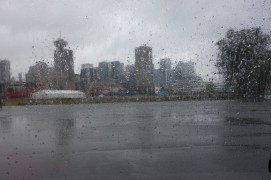 From the moment we arrived in Canada, it started raining. :-)
