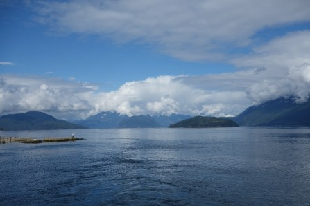 We lucked out with the weather on our 1.5-hour ferry ride from Vancouver (mainland Canada) to Nanaimo (Vancouver Island)