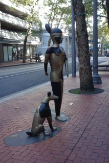 One of the statues dispersed throughout downtown