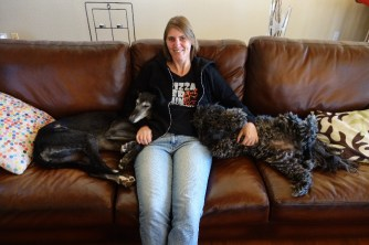 The couch was big enough for all of us!
