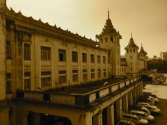 Yangon Central Railway Station. A historial building, still with a authentic Burmese taste
