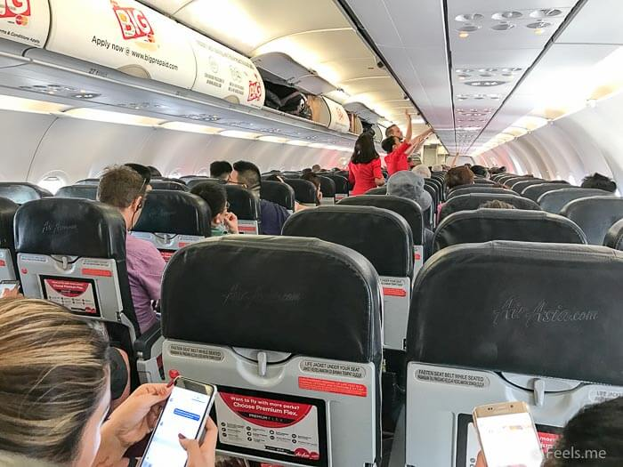 Air Asia SIN BKI Review 3 3 seat configuration