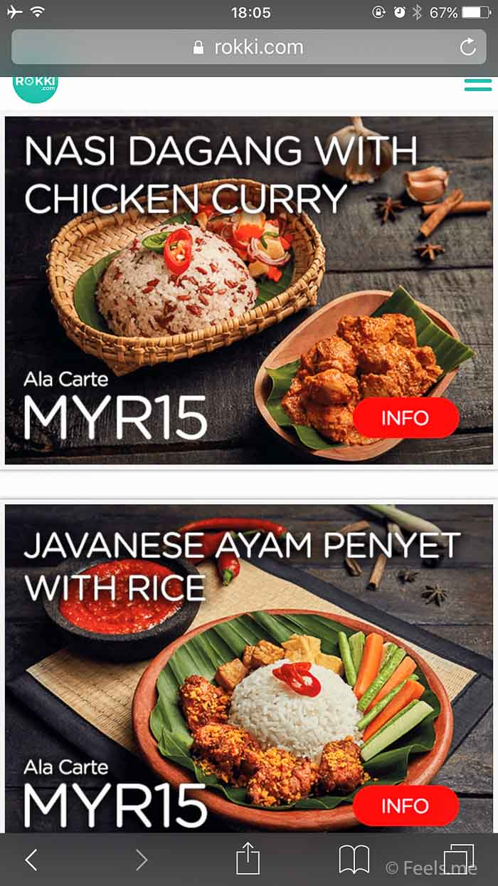 Air Asia SIN BKI Review Food selection