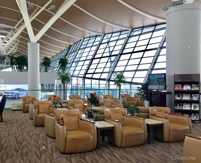 Air China Shanghai T2 Star Alliance Lounge Spacious seating