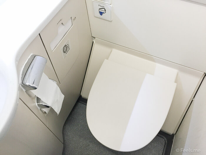 SQ SIN CAN Economy Class Lavatory