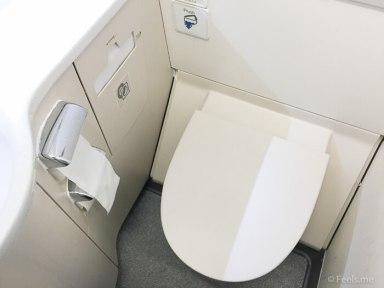SQ SIN CAN Economy Class Lavatory