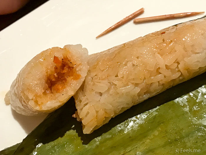 Hyatt Regency Kinabalu Breakfast Lemang with Shrimp