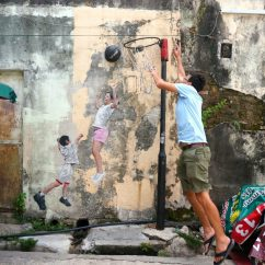 Swing Chair Penang Office Lumbar Support Cushion Discovering Street Art Clan Jetties Hashing Food In Children Playing Basketball George Town Malaysia
