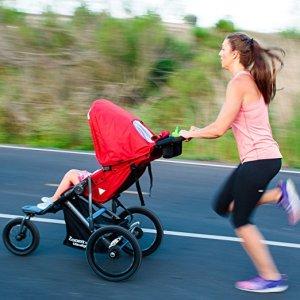 Joovy Zoom 360 Ultralight Jogging Stroller on the road