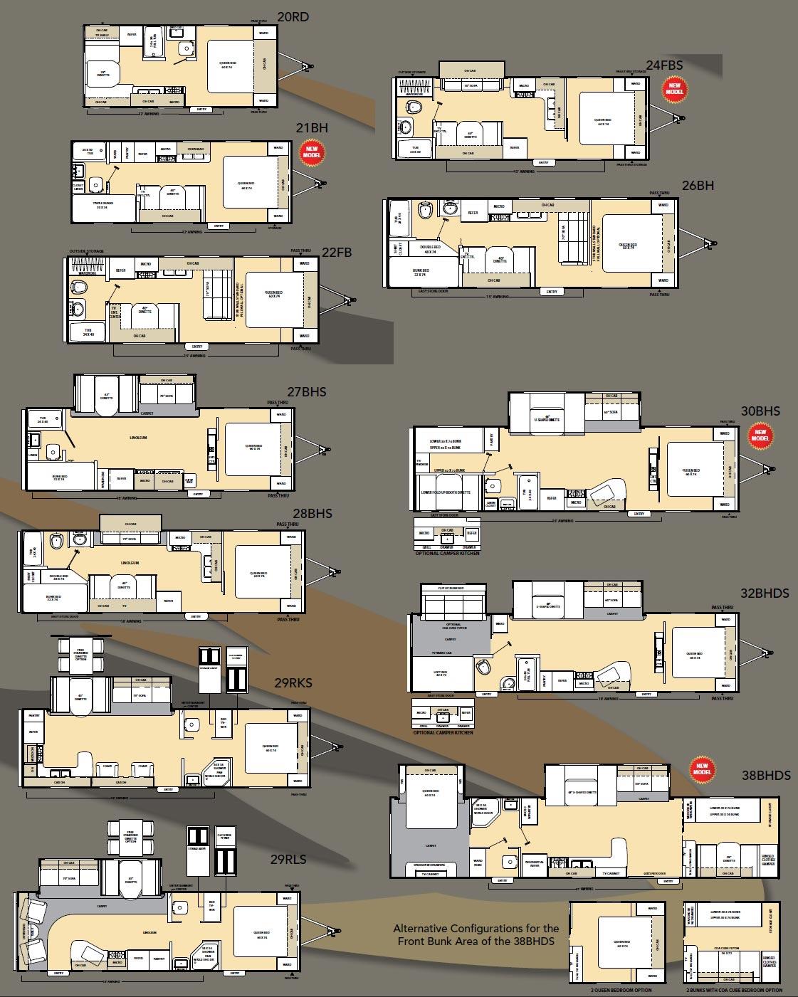hight resolution of coachmen catalina travel trailer floorplans