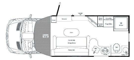 2015 PleasureWay Plateau XL Widebody Class B Motorhome