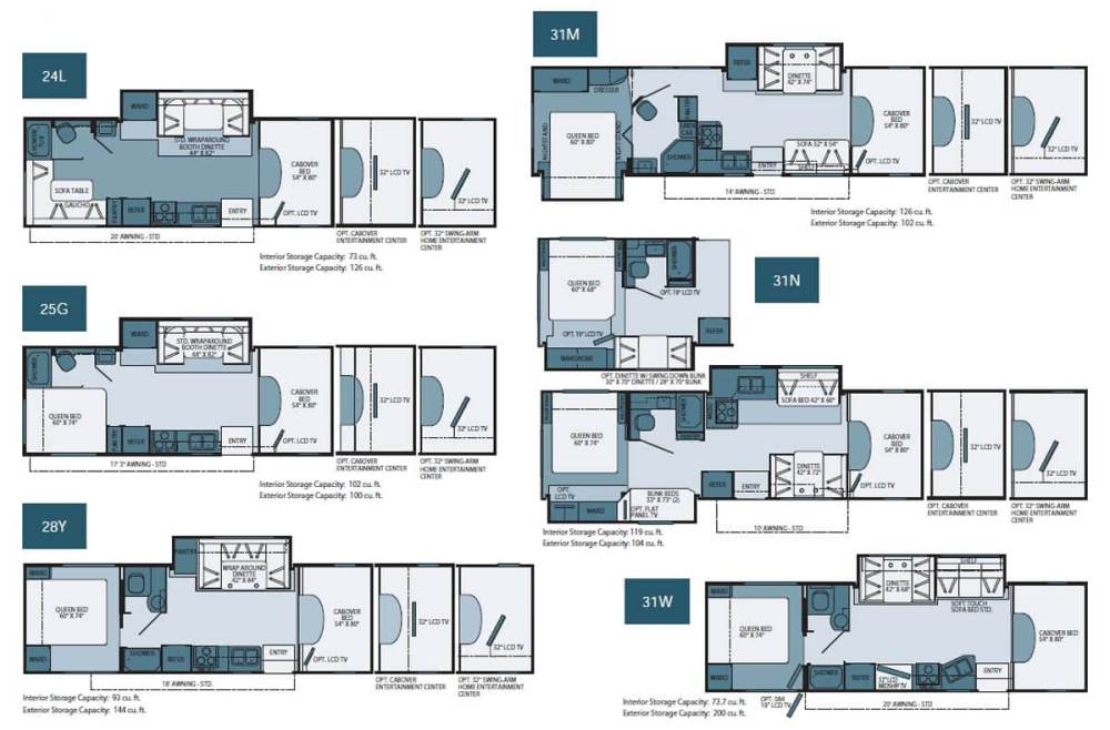 medium resolution of fleetwood tioga ranger floorplans large