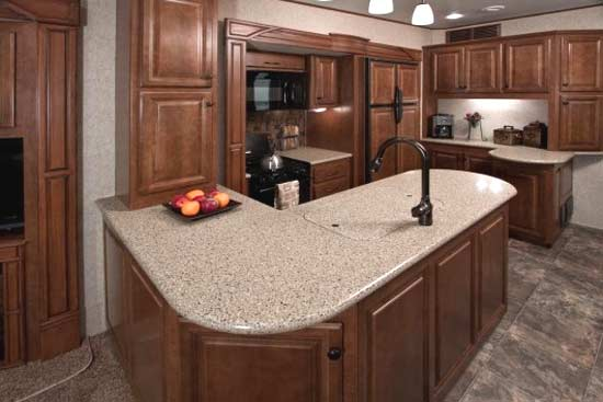 custom kitchen booth decorations for counters 2012 heartland bighorn fifth wheel | roaming times