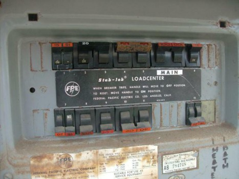 Federal Pacific Electrical Panel