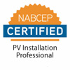 NABCEP Installation Professional certification logo and link to NABCEP website to learn more