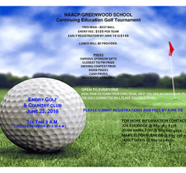 NAACP Golf Tournament 2018