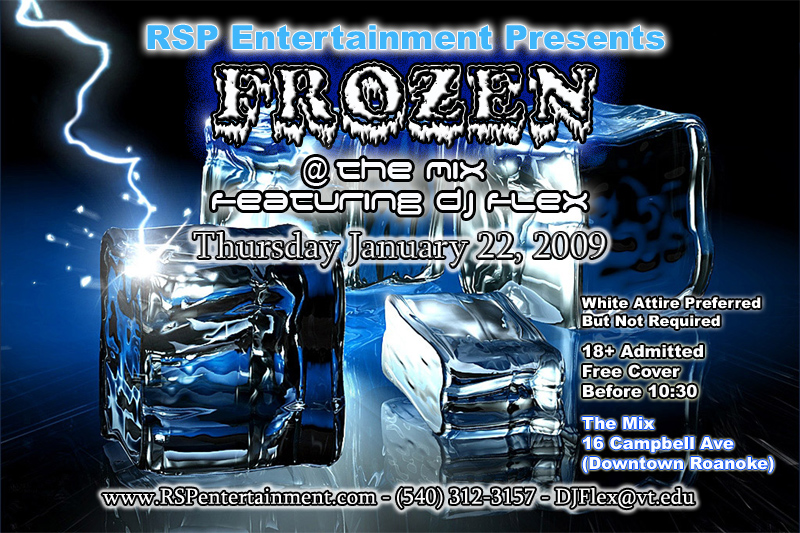 Frozen Party Flyer