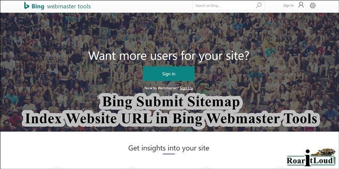 Bing Submit Sitemap, Index Website URL Bing Webmaster Tools