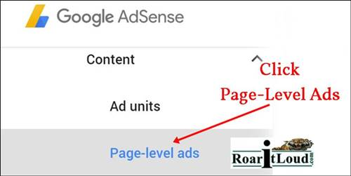Click page level ads to activate