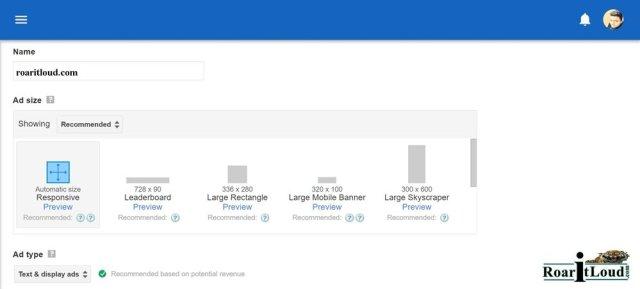 Google Adsense Earning Depends on Ad Size unit