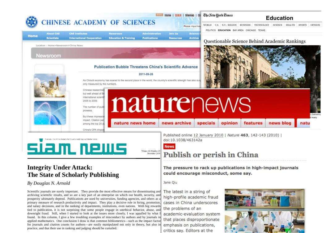 Titoli di articoli sui numeri tossici