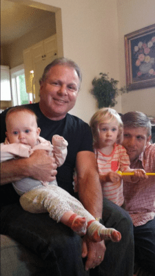 Papa Truby, Jared and the grandkids