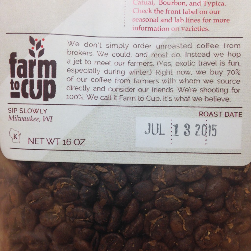 Quality focused roasters will typically provide the roast date for their coffees