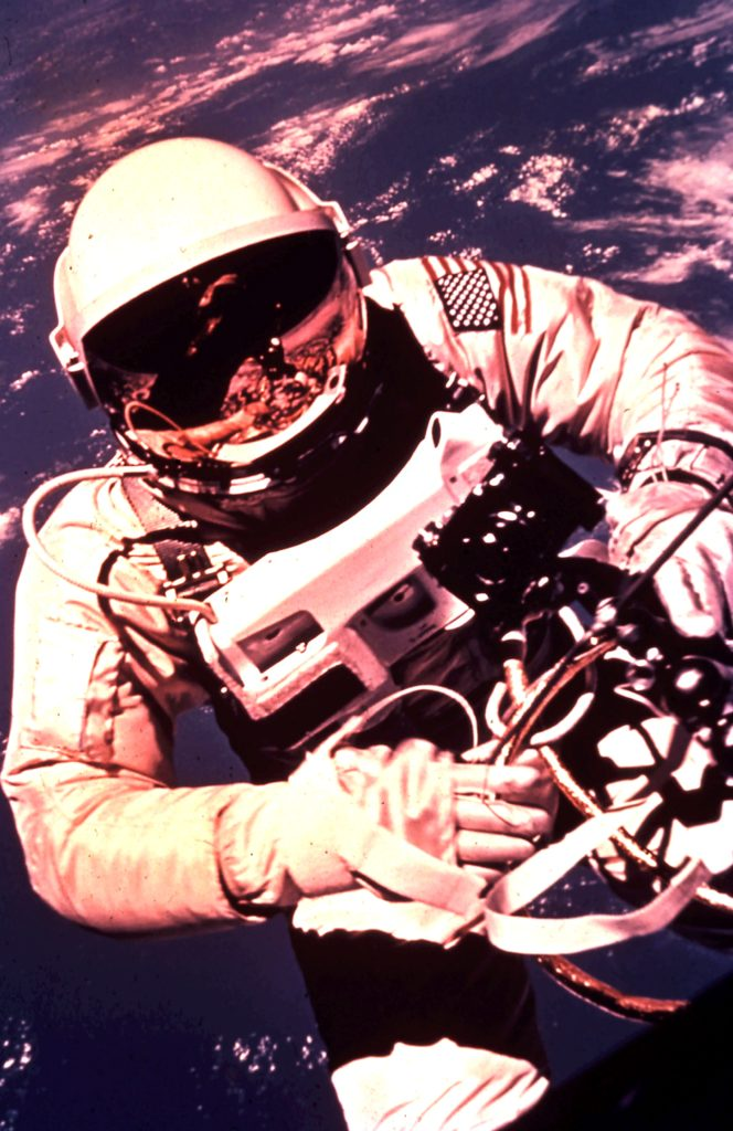 Space - Gemini spacewalk close up. Rob Gregory Author