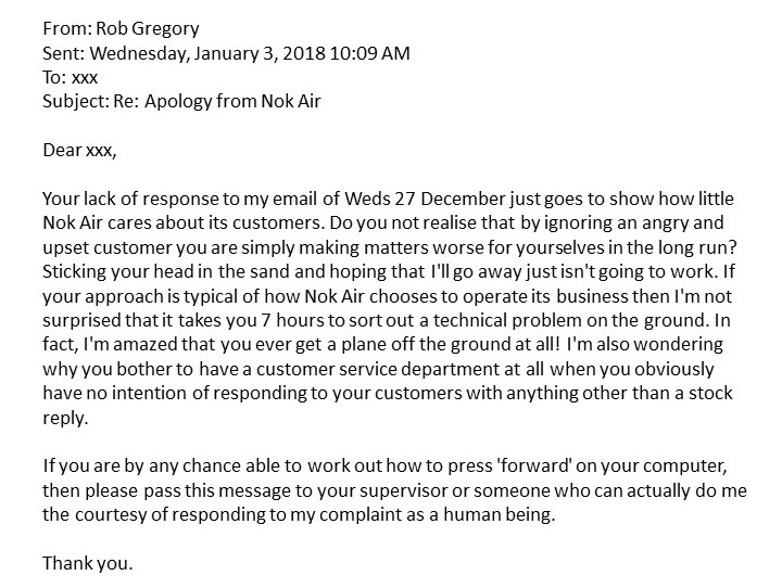 Nok Air - My second reply. Rob Gregory Author