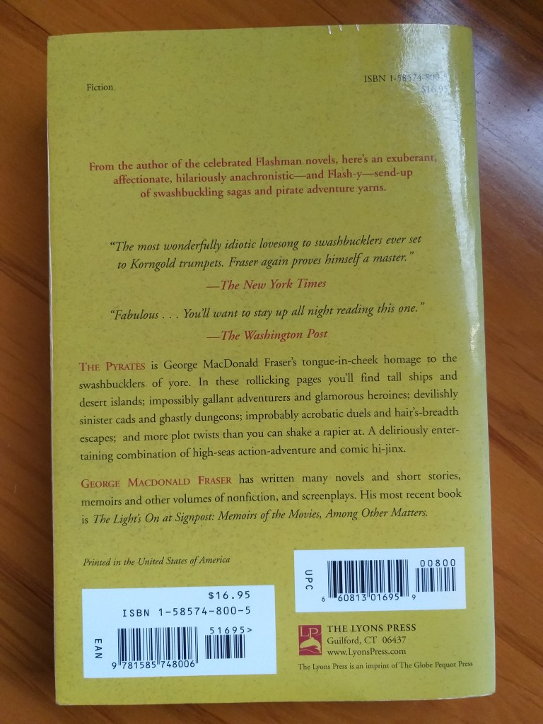 Rear cover for The Pyrates - Rob Gregory Author