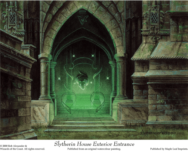 Slytherin House Rob Alexander Art Studios