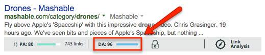 Mashable domain authority