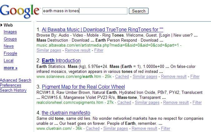 Old Google SERP