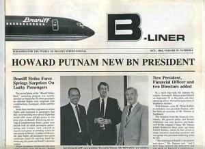 Howard Putnam New BN President - newspaper clipping