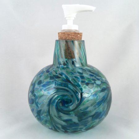 blown glass soap dispenser