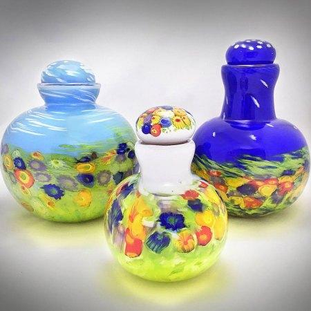 blown glass memorial urns