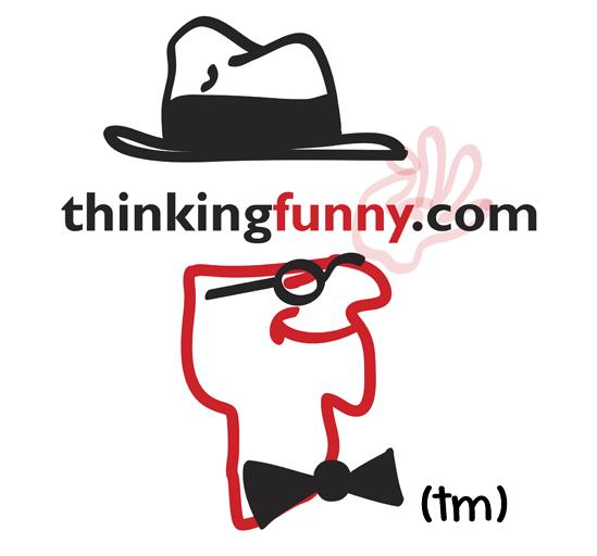 Trademark logo of www.ThinkingFunny.com