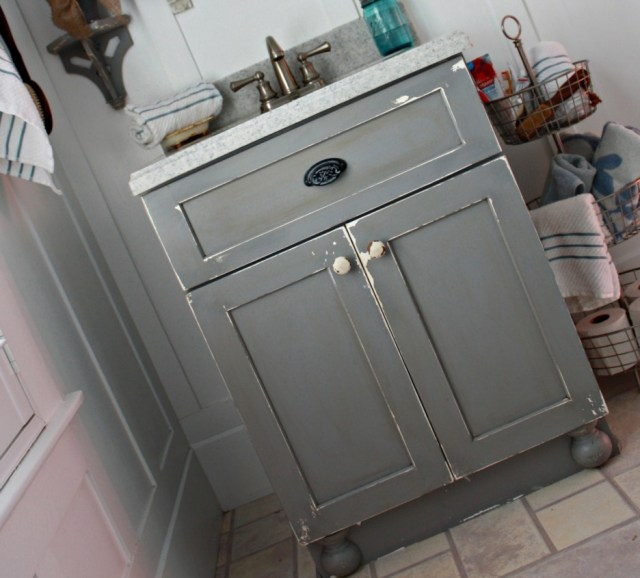 Bathroom Vanity Using Kitchen Cabinets